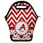 Ladybugs & Chevron Lunch Bag w/ Name and Initial
