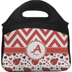 Ladybugs & Chevron Lunch Tote (Personalized)