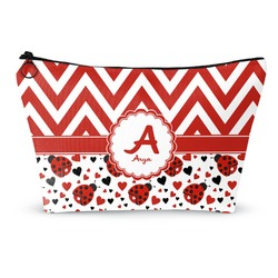 Ladybugs & Chevron Makeup Bags (Personalized)