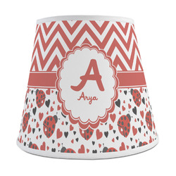 Ladybugs & Chevron Empire Lamp Shade (Personalized)