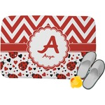Ladybugs & Chevron Memory Foam Bath Mat (Personalized)