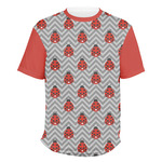 Ladybugs & Chevron Men's Crew T-Shirt (Personalized)