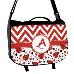 Ladybugs & Chevron Messenger Bag (Personalized)