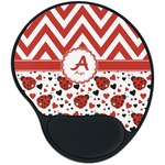Ladybugs & Chevron Mouse Pad with Wrist Support