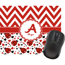 Ladybugs & Chevron Mouse Pad (Personalized)