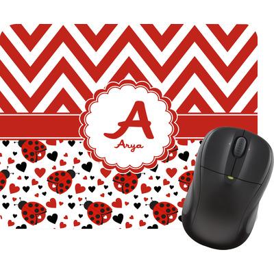Ladybugs & Chevron Mouse Pads (Personalized)