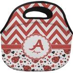 Ladybugs & Chevron Lunch Bag (Personalized)