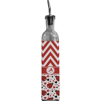 Ladybugs & Chevron Oil Dispenser Bottle (Personalized)