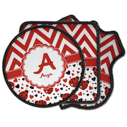 Ladybugs & Chevron Iron on Patches (Personalized)