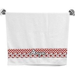 Ladybugs & Chevron Bath Towel (Personalized)