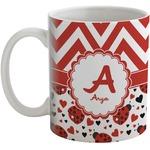 Ladybugs & Chevron Coffee Mug (Personalized)