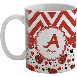 Ladybugs & Chevron Coffee Mug (Personalized)