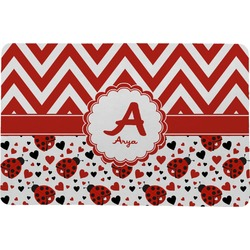 Ladybugs & Chevron Comfort Mat (Personalized)
