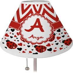 Ladybugs & Chevron Lamp Shade (Personalized)