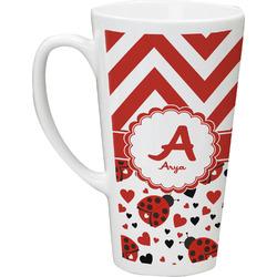 Ladybugs & Chevron Latte Mug (Personalized)