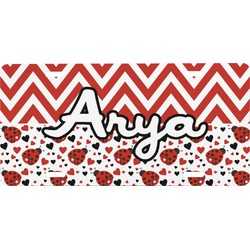 Ladybugs & Chevron Front License Plate (Personalized)