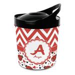 Ladybugs & Chevron Plastic Ice Bucket (Personalized)