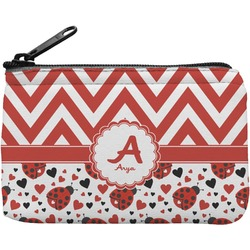 Ladybugs & Chevron Rectangular Coin Purse (Personalized)