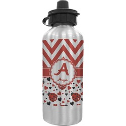 Ladybugs & Chevron Water Bottle (Personalized)