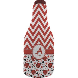 Ladybugs & Chevron Wine Sleeve (Personalized)