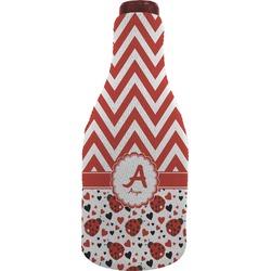 Ladybugs & Chevron Wine Sleeve (Personalized)