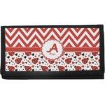 Ladybugs & Chevron Canvas Checkbook Cover (Personalized)