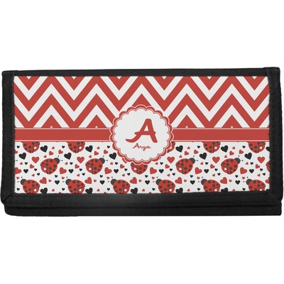Ladybugs & Chevron Canvas Checkbook Cover (Personalized)