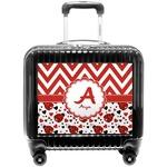 Ladybugs & Chevron Pilot / Flight Suitcase (Personalized)