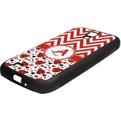Ladybugs & Chevron Rubber Samsung Galaxy 4 Phone Case (Personalized)