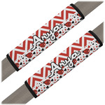 Ladybugs & Chevron Seat Belt Covers (Set of 2) (Personalized)