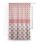 Ladybugs & Chevron Sheer Curtains (Personalized)