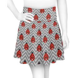 Ladybugs & Chevron Skater Skirt (Personalized)