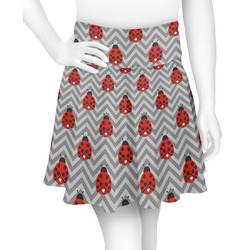 Ladybugs & Chevron Skater Skirt (Personalized)