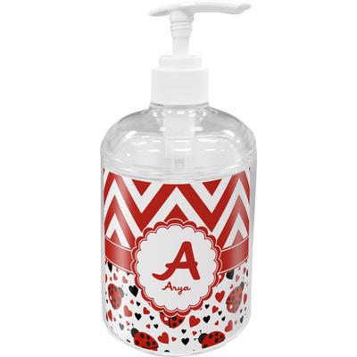 Ladybugs & Chevron Soap / Lotion Dispenser (Personalized)