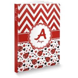 Ladybugs & Chevron Softbound Notebook (Personalized)