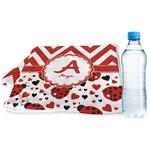 Ladybugs & Chevron Sports & Fitness Towel (Personalized)