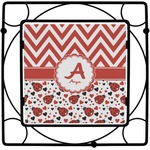 Ladybugs & Chevron Square Trivet (Personalized)