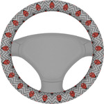 Ladybugs & Chevron Steering Wheel Cover (Personalized)