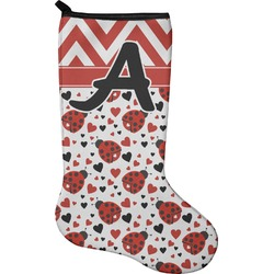 Ladybugs & Chevron Christmas Stocking - Neoprene (Personalized)