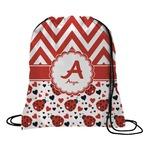 Ladybugs & Chevron Drawstring Backpack (Personalized)