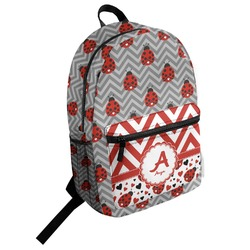 Ladybugs & Chevron Student Backpack (Personalized)