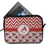 Ladybugs & Chevron Tablet Case / Sleeve (Personalized)