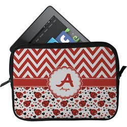 Ladybugs & Chevron Tablet Case / Sleeve (Personalized)