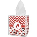 Ladybugs & Chevron Tissue Box Cover (Personalized)