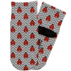 Ladybugs & Chevron Toddler Ankle Socks (Personalized)