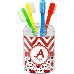 Ladybugs & Chevron Toothbrush Holder (Personalized)