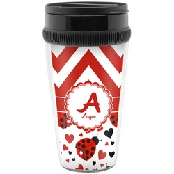 Ladybugs & Chevron Travel Mug (Personalized)