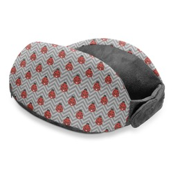 Ladybugs & Chevron Travel Neck Pillow (Personalized)