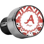Ladybugs & Chevron USB Car Charger (Personalized)
