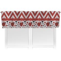 Ladybugs & Chevron Valance (Personalized)